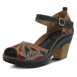 L'Artiste by Spring Step Women's Avelle Black Multi Sandal