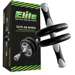 Elite Sportz Ab Wheel Roller – This Ab Exercise Wheel has Dual Wheels for Extra Stability, ...