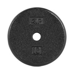 CAP Barbell Standard Free Weight Plate, 1-Inch, 10-Pound, Black