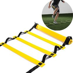 Speed Agility Ladder Kuyou 10 Rung Training Ladder for Soccer Speed Basketball Football Fitness  ...