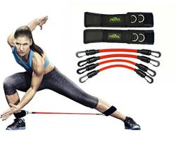 FIGROL Leg Resistance Bands Speed Agility Training Strength Ankle Straps Jump Trainer with 4 Exe ...