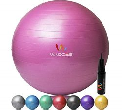 Wacces Fitness and Exercise Ball (Pink, 55 cm)