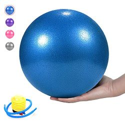 Pilates Ball, Barre Ball, Mini Exercise Ball, 9 Inch-Small Bender Ball for Pilates, Yoga, Core T ...