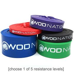 WOD Nation Pull Up Assist Band by Best for Pullup Assistance, Chin Ups, Resistance Exercise, Str ...