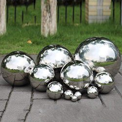 PROKTH Gazing Ball, 300mm Hollow 304 Stainless Steel Exercise Balls gazing Globes Floating Pond  ...