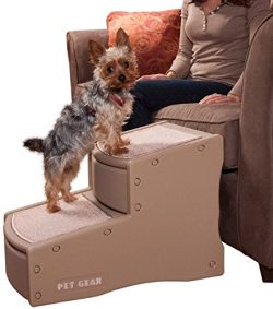 Pet Gear Easy Step II Pet Stairs, 2 Step for Cats/Dogs up to 150 Pounds, Portable, Removable Was ...