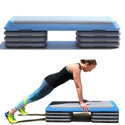 One Strong Southern Girl Aerobic Step with Extra Risers-Gym Sized Workout Step (Blue)