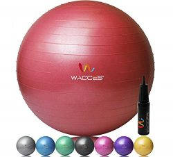 Wacces Fitness and Exercise Ball, Red, 75cm