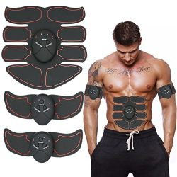 BEAUTY PLUS EMS Muscle Toner, Portable 8 Pack ABS Muscle Trainer with Rhythm, Abdominal Toner, F ...