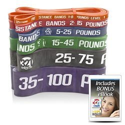 321 STRONG Exercise Resistance Bands – Complete Set