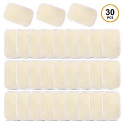 Sportneer Ab Gel Pads, 30 Pack Abs Trainer Replacement Gel Sheets, Abdominal Toning Belt Muscle  ...