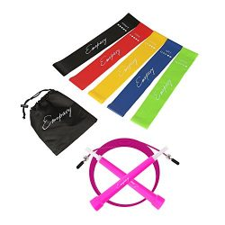 Emopavy Resistance Bands Exercise Bands Workout Bands Set of 5 with Jump Rope for Home Fitness P ...