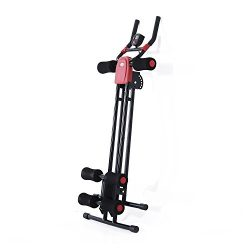Soozier Ab Crunch Abdominal Core Workout Exercise Machine – Black