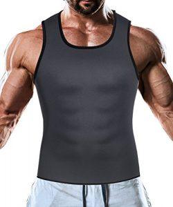 Men Waist Trainer Corset Vest for Weight Loss Hot Neoprene Body Shaper Tank Top Sauna Suit Shirt ...