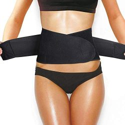 Waist Trainer Belt, YXTY Weight Loss Ab Belt Waist Trimmer Belt for Men & Women Waist Cinche ...
