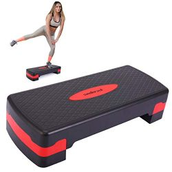 """JAXPETY New 27"""" Fitness Aerobic Step Adjust 4″ – 6″ Exercise Stepper w/R ..."""