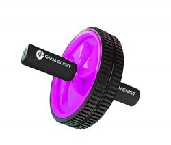 Abdominal Exercise Ab Wheel Roller with Foam Handles, Great Grip, Double Wheels, Top Professiona ...