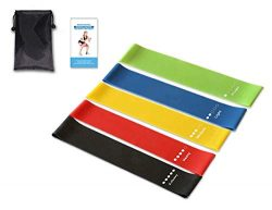 GYMINHOME Exercise Bands Resistance – Light Medium Heavy Workout Bands – Stretch Ban ...