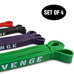 VENGE Performance Functional Fitness Bands Set of 4, Exercise Band Set, Mobility Bands Set for S ...