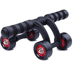 KANSOON Ab Wheel Fitness Equipment – 4 Wheels Innovative Ergonomic Abdominal Roller Carvin ...