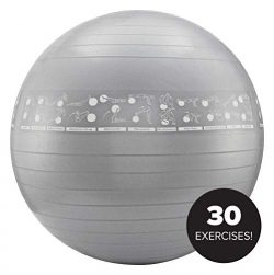 NewMe Fitness Exercise Ball with Exercises (75cm)