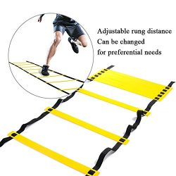 4M 8 Rung Speed Agility Training Ladder,Outdoor Football Sports Exercise Equipment