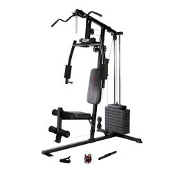 Marcy 120 Lb. Single Stack Home Gym with Pulley, Press Arm, Leg Developer MKM-1101