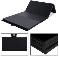 Cloud Mountain 4'x8'x2/4'x10'x2 Thick Folding Panel Gymnastics Tumbling  ...