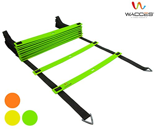 Wacces Adjustable Agility Ladder for Soccer, Speed, Football, Fitness with Carry Bag ( 20 Rungs  ...
