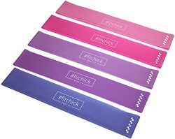 #fitchick Body Co Fitness Band Set of 5 – Best Exercise Bands for Resistance Training, Str ...