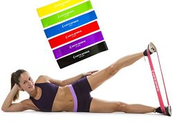 Koyto Sports Exercise Bands – Premium Set of 6 Fitness Resistance Loop Bands 12″x 2& ...