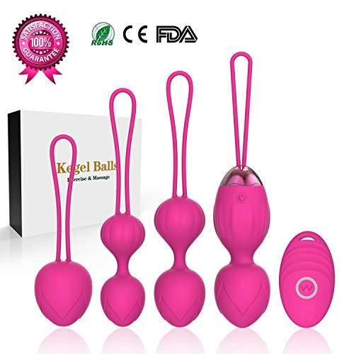 Upgrade 2 in 1 Kegel Exercise Weights & Massage Ball Kegel Balls Beginners & Pleasure &# ...
