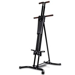 Goplus Vertical Climber Folding Stepper Climbing Exercise Machine w/Adjustable Height LCD Displa ...