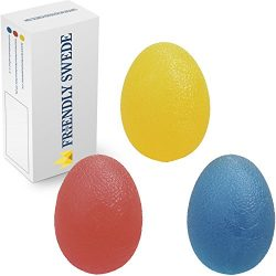 The Friendly Swede Hand Grip Strengthening Stress Relief Therapy Squishy Balls – Set of 3  ...