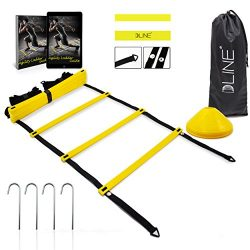 Agility Ladder Speed Training Equipment with 12 Rungs to Improve Soccer,Football & Other Spo ...