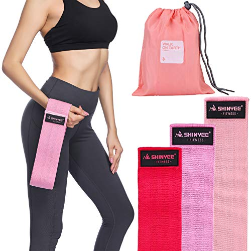 Non Slip Workout Bands: Shinyee Hip Booty Bands Fitness Resistance Loops For Women