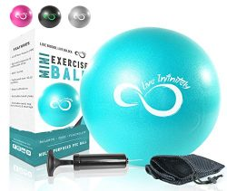 Live Infinitely Professional Grade 9 Inch Anti-Burst Mini Pilates Ball for Home Exercise, Balanc ...