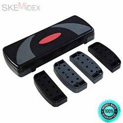 SKEMiDEX— 31″ Fitness Aerobic Step Adjust 4″ – 6″ – 8″ ...