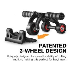 VIM Ab Roller Wheel w/Patented 3-Wheel Triangular Design – Perfect Fitness Exercise Equipm ...