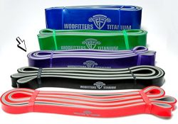WODFitters Titanium Resistance Band – Purple – Heavy Duty Power Band for Pull Up Ass ...