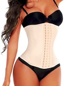 Camellias Women 3 Hook Long Torso Columbian Waist Trainer Corset for Weight Loss Fat Burn Sweet  ...