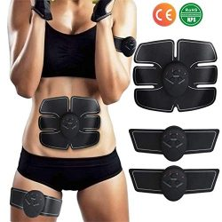 YUCHEEN Abdominal Muscle Toner,EMS Abs Trainer,Abdominal Toning Belt,Wireless Body Massage Gym W ...