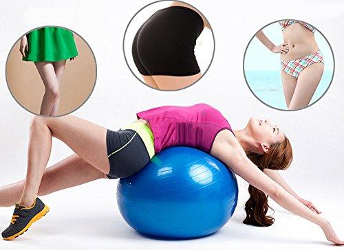 Exercise Ball, GYM GRADE QUALITY Balance Ball with Pump, Anti-Burst, Anti-Slip Thickening Yoga B ...
