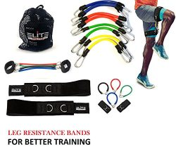 Speed Agility Kinetic Leg Resistance Bands – Ultimate Speed Training – Thigh Straps  ...