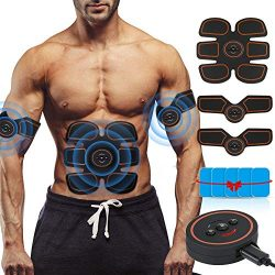 ROKOO Muscle Toner Ultimate Abs Stimulator with 10 Extra Gel Pads & E-Book | EMS Abdominal T ...