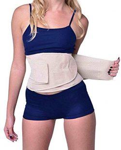 YIANNA Waist Trimmer Belt Weight Loss Wrap Stomach Fat Burner Low Waist and Back Support Adjusta ...