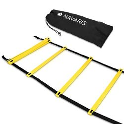 Navaris Coordination Ladder 6m Workout Agility Ladder – Basketball Football Soccer Speed L ...