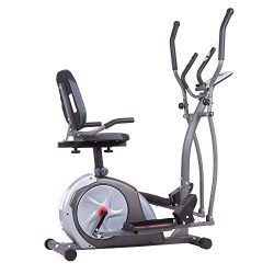 Body Rider BRT5800 3-in-1 Trio Trainer Workout Machine, Black/Gray/Silver/Red