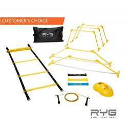 Raise Your Game RYG Speed Agility Training Ladder Cones Hurdles, Exercise Equipment Soccer, Foot ...