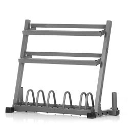XMark Dumbbell Rack Olympic Plate Weight Rack Olympic Bar Storage, Store Dumbbells, Plate Weight ...